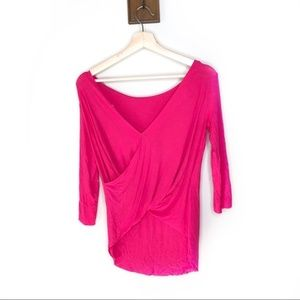 Bailey 44 NWT reversible hot pink soft shirt